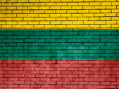 The Lithuanian flag — Stok fotoğraf