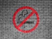 No smoking sign drawn at — Stock Photo