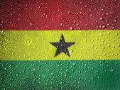 La bandiera del ghana — Foto Stock