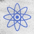 Stock Photo: Atom symbol painted on