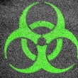 Stock Photo: Biohazard sign painted on