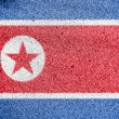 North Koreflag — Stock fotografie #15402607