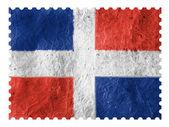 Flaga republiki dominikańskiej — Zdjęcie stockowe