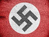 Nazi flag painted on — Stock Photo