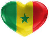 The Senegal flag — Stock Photo