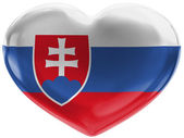The Slovakia flag — Foto de Stock