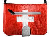 A bandeira da suíça — Fotografia Stock