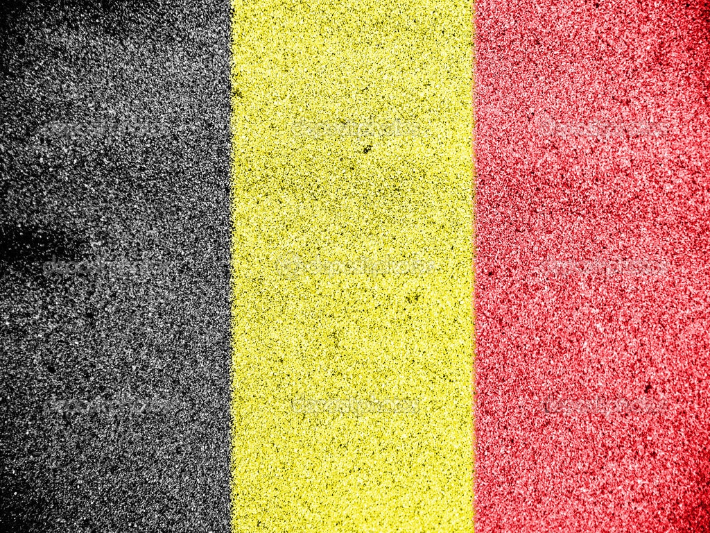The Belgian flag painted on  Stock Photo #15401865