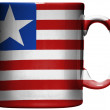 Liberia. Liberian flag painted on coffee mug or cup — Stock Photo #23403456