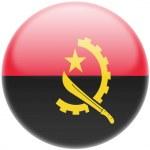 Постер, плакат: Angola Angolan flag Round glossy badge
