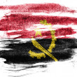 Постер, плакат: Angola Angolan flag painted on paper with colored charcoals