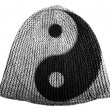 Ying Yang sign painted on painted on cap — Stock Photo #23406476