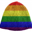 Gay pride flag painted on cap — Stock Photo #23406630