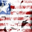 Stock Photo: Liberia. Liberiflag painted on grunge wall