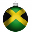 Jamaica flag  on a Christmas, x-mas toy — Stock Photo