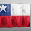 The Chile flag — Foto de Stock