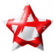 Stock Photo: Anarchy symbol painted n. Glossy star