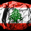 The Lebanese flag — Stock Photo