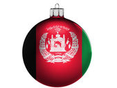 Afghanistan flag on a Christmas, x-mas toy — Zdjęcie stockowe