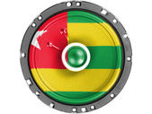 Togo flag painted on sound speaker — Stock Photo