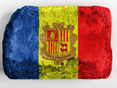 Andorra flag painted on brick — Stock Photo