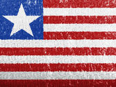 Liberia. Liberian flag painted on bubblewrap — Stock Photo