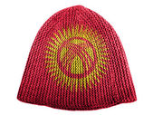 Kyrgyzstan flag painted on cap — Stock Photo