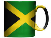 Jamaica flag painted on coffee mug or cup — Stock Photo
