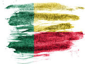 Benin. Benini flag painted on paper with colored charcoals — Stock Photo