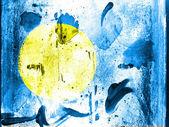 Palau flag painted on grunge wall — Stock Photo