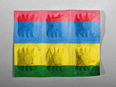 Mauritania flag painted on pills — Stock Photo
