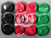 Bandiera afghanistan dipinta su compresse o pillole — Foto Stock