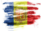 Andorra flag painted on paper with colored charcoals — Stock Photo