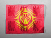 Kyrgyzstan flag painted on pills — Foto Stock