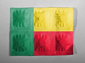 Benin. Benini flag painted on pills — Foto Stock