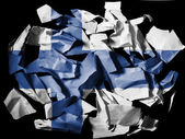 The Finnish flag — Foto Stock
