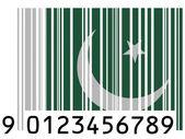 Den pakistanska flaggan — Stockfoto