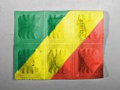 The Congo flag — Zdjęcie stockowe