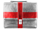 England. English flag painted on small briefcaseor leather handbag — Stockfoto