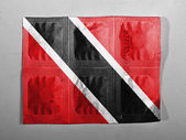 Trinidad and Tobago flag painted on pills — Foto Stock