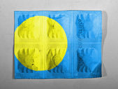 Palau flag painted on pills — Stock Photo