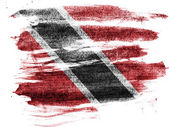 Trinidad and Tobago flag painted on paper with colored charcoals — Stock Photo