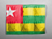 Togo flag painted on pills — Stock Photo