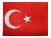 The Turkish flag — Stock Photo