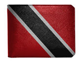 Trinidad and Tobago flag painted on leather wallet — Stock Photo