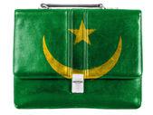 Drapeau de Maurice peints sur sac à main en cuir de petite briefcaseor — Photo