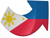 Philippine flag painted on — Stock Photo