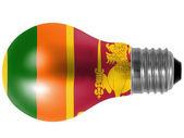 Sri Lanka flag painted on lightbulb — Stock Photo
