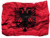 албания. албанский флаг, написанные на мятой бумаги — Стоковое фото
