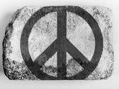 和平符号上画上砖画 — 图库照片